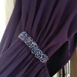 Plum colored gown perfect for winter ball/dinner
